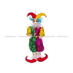 Кукла клоун зелено-фиолетовый высота=55 см. без упаковки