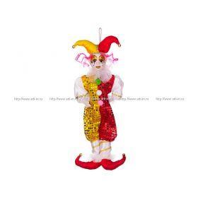 Кукла клоун желто-красный высота=55 см. без упаковки