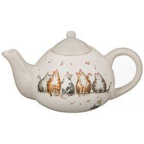 """Заварочный чайник """"кошачий квартет""""  600 мл 21*13*12,5 см."""