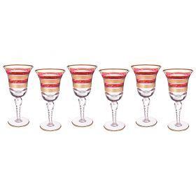 Набор бокалов для вина из 6 шт.250 мл.высота=20 см.