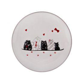 """Тарелка десертная """"кошкин дом"""" 20,3*20,3*2 см."""
