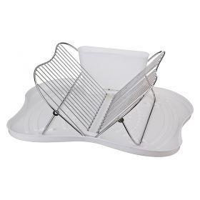 Подставка для посуды настольная+поддон пластик 44*35*18 см.