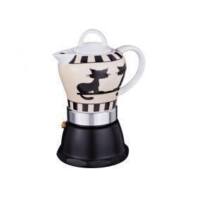 Кофеварка гейзерная 10*10 см. высота=18 см.