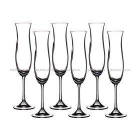 Набор бокалов для шампанского из 6 шт. эллен 200 мл. высота=27 см.