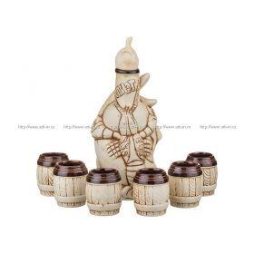 Водочно-коньячный набор байки штоф+6 рюмок 1100/150 мл. без упаковки